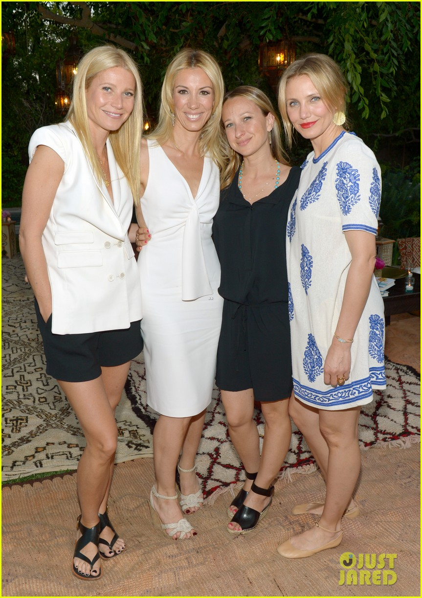 gwyneth paltrow cameron diaz show their support for vicky vlachonis 053114888