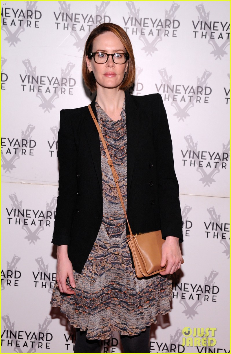 sarah paulson andrew rannells support new theater in new york 08