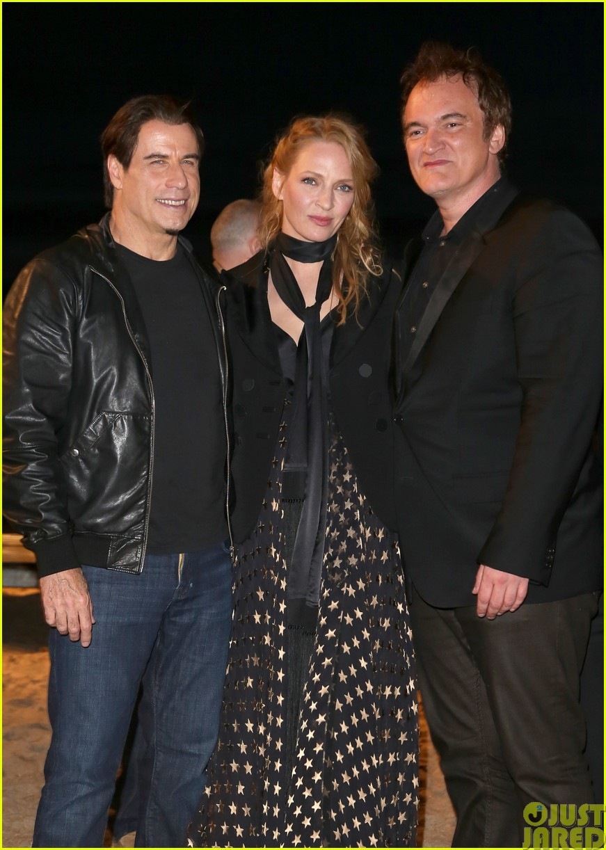 uma thurman john travolta and quentin tarantino reunite for pulp fiction screening at cannes07