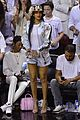 rihanna cheers on lebron james at nets heat game 03