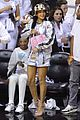 rihanna cheers on lebron james at nets heat game 25