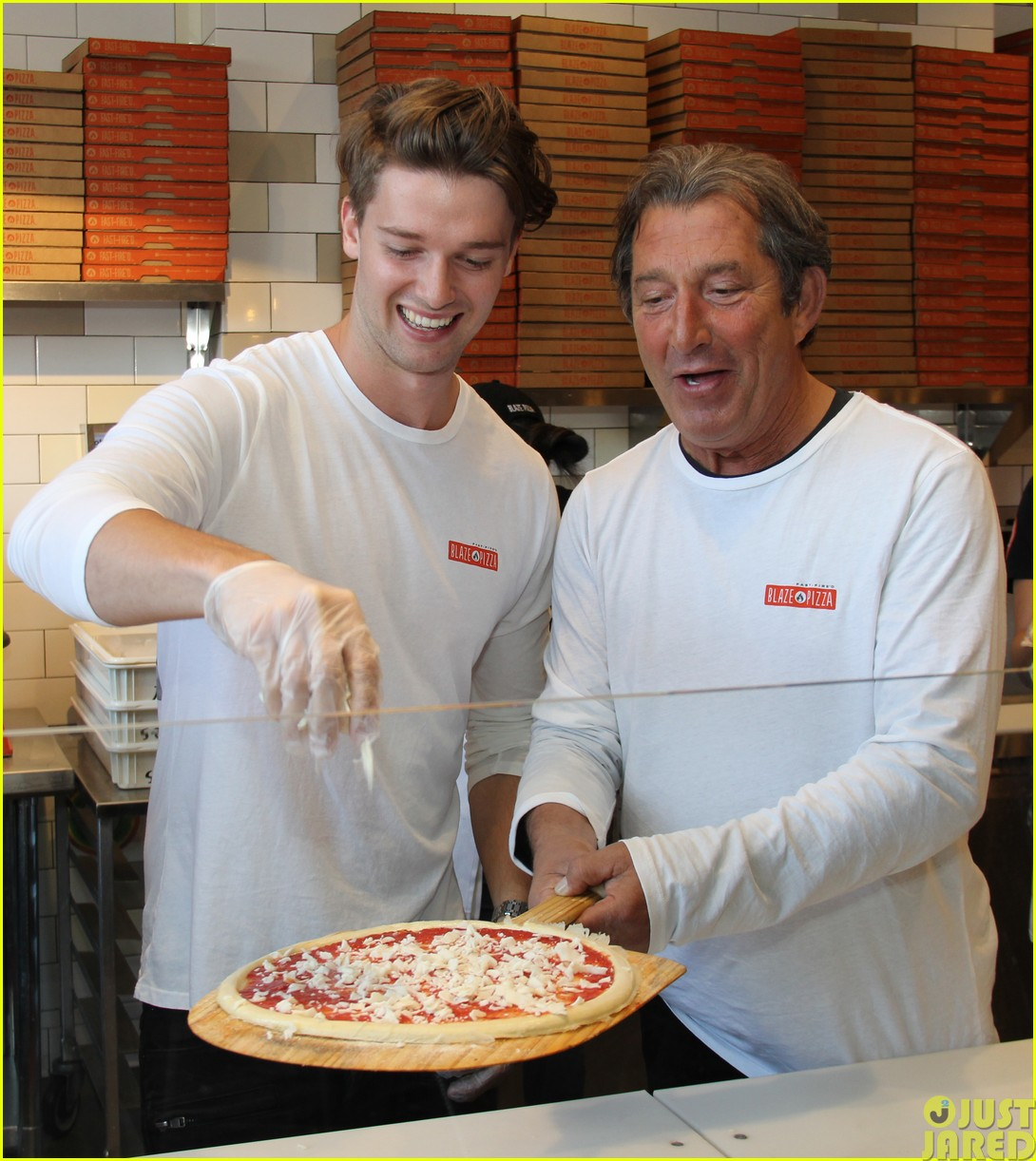 patrick schwarzenegger celebrates the opening of blaze pizza with family and friends06