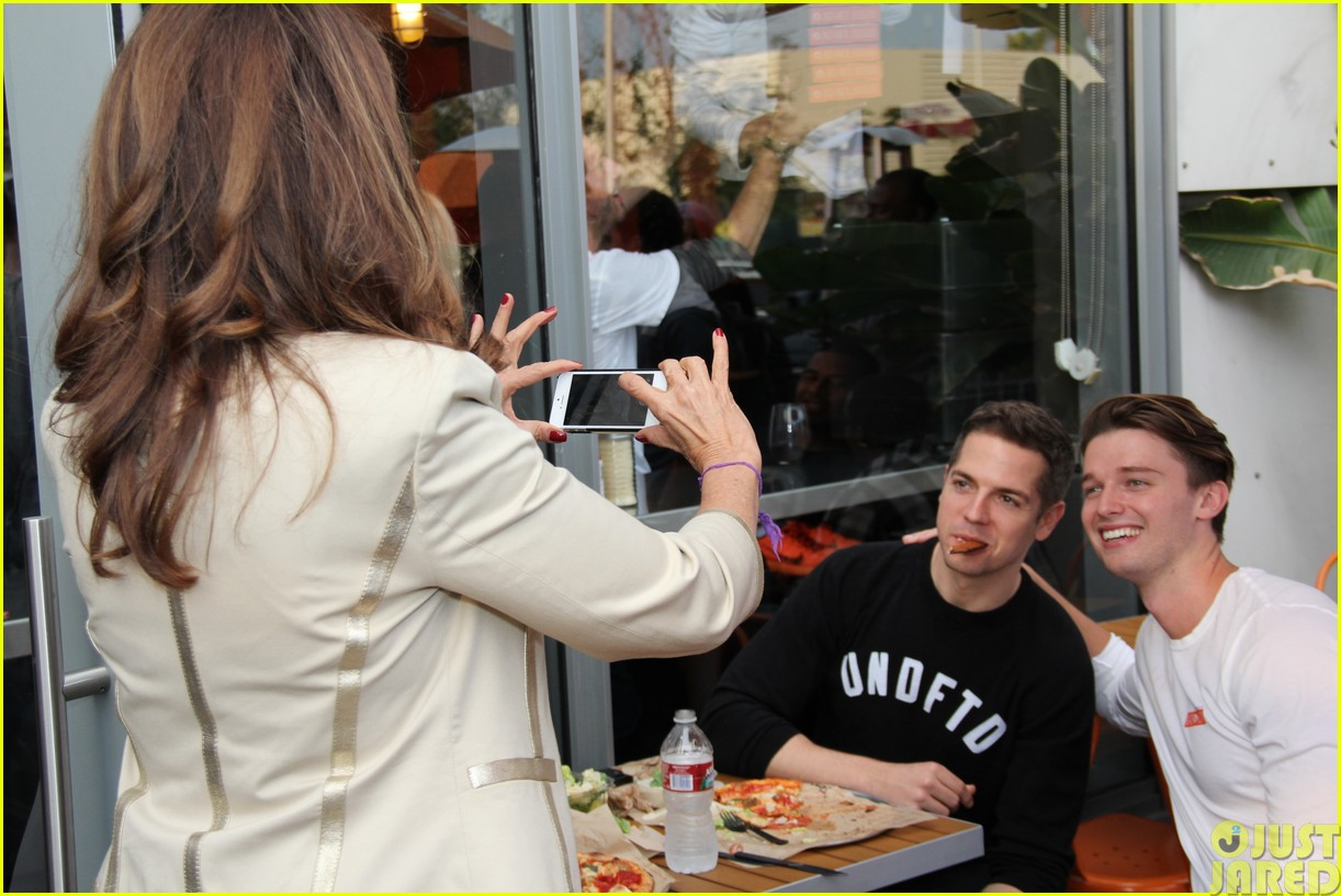 patrick schwarzenegger celebrates the opening of blaze pizza with family and friends18