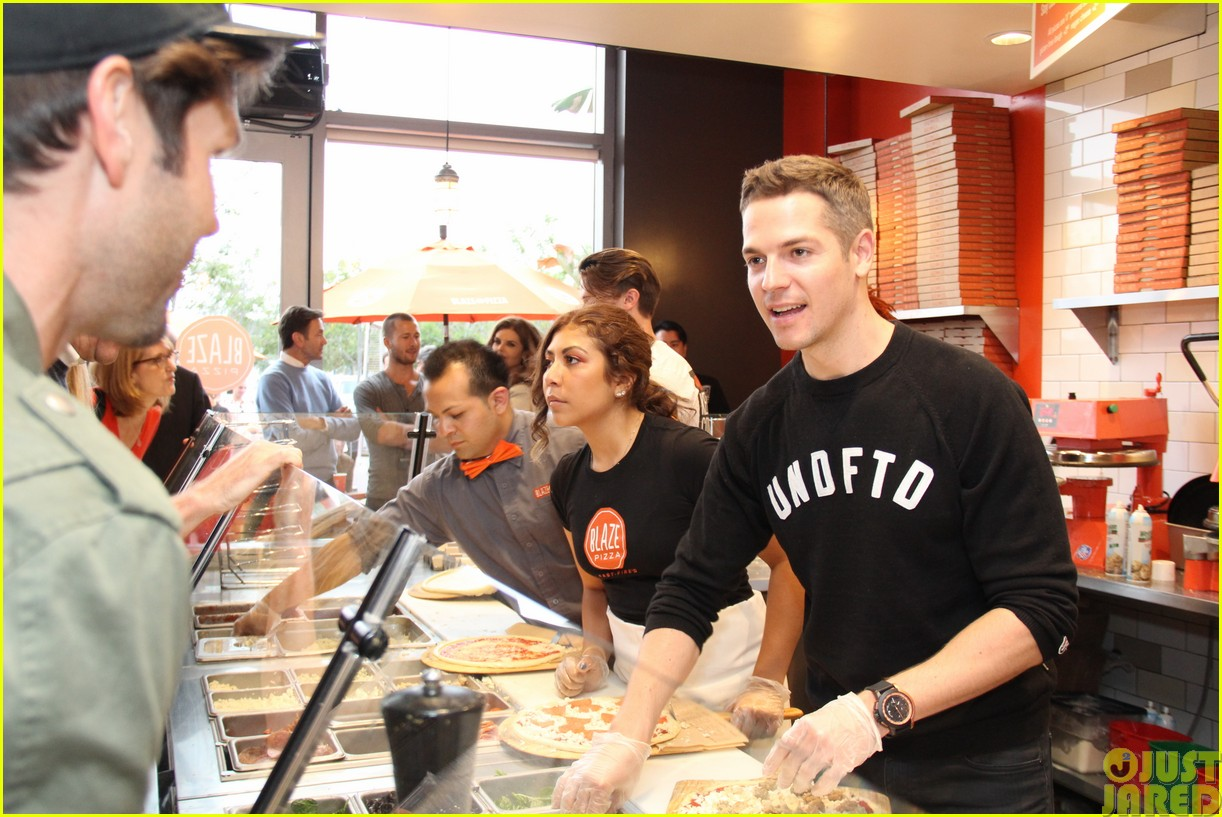 patrick schwarzenegger celebrates the opening of blaze pizza with family and friends193121547