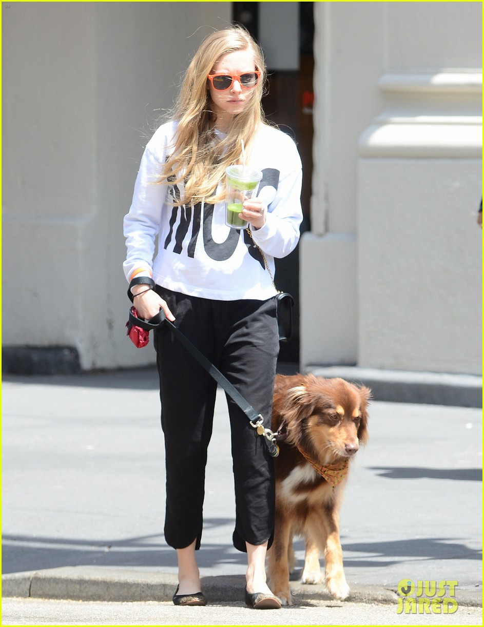 amanda seyfried is all about mcqueen on her dog walk 01