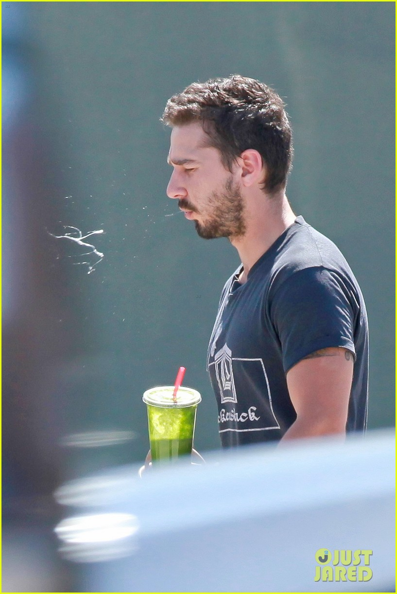 shia labeouf gives us a quick peek at his bare torso 123102998
