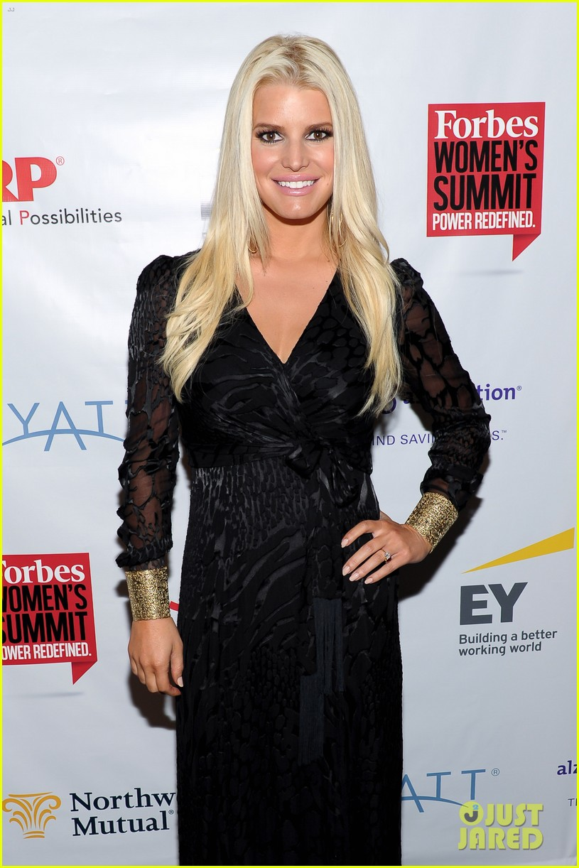 jessica simpson stunning slim forbes womens summit 08