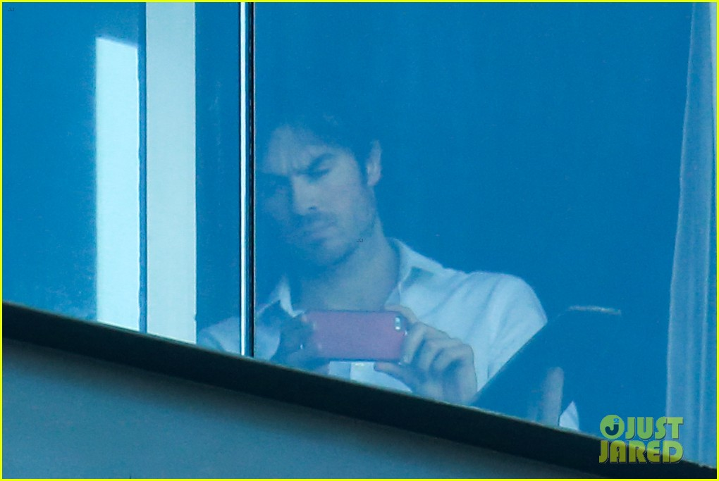 ian somerhalder blows kisses to fans from rio hotel balcony 133125057