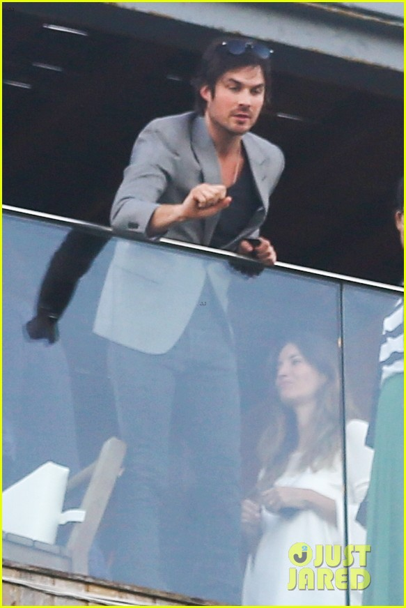 ian somerhalder blows kisses to fans from rio hotel balcony 27