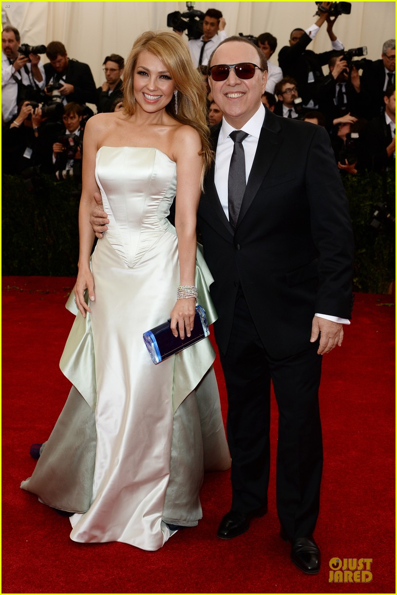 Thalia Tommy Mottola Flash Smiles At Met Ball 2017 Photo 3106535 Pictures Just Jared