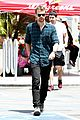 theo james runs errands los angeles 01