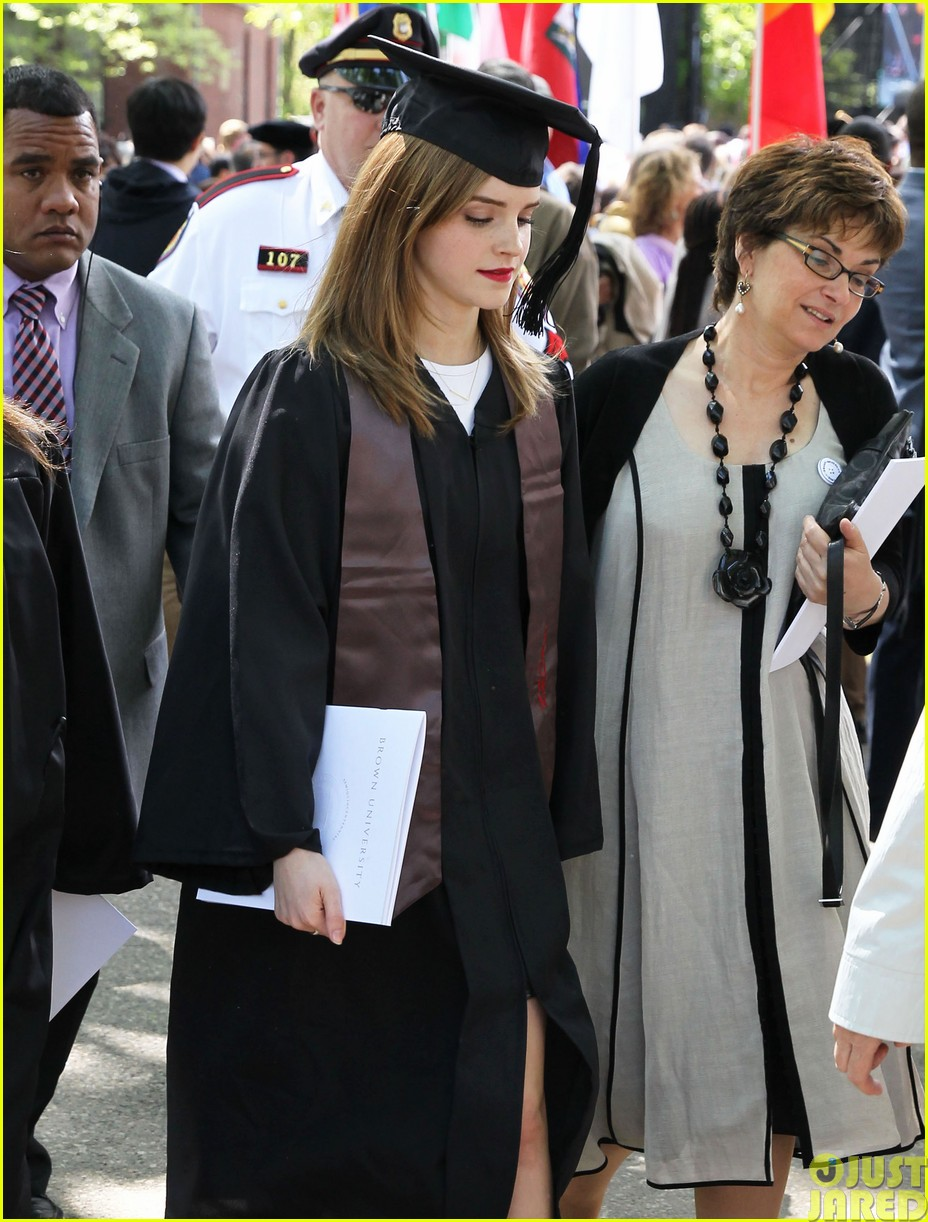 emma watson graduates brown university lit major14