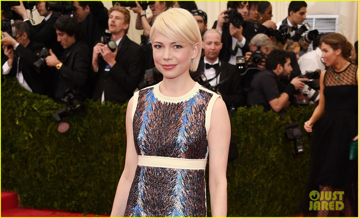 michelle williams spends her day off from broadway at the met ball 2014 05