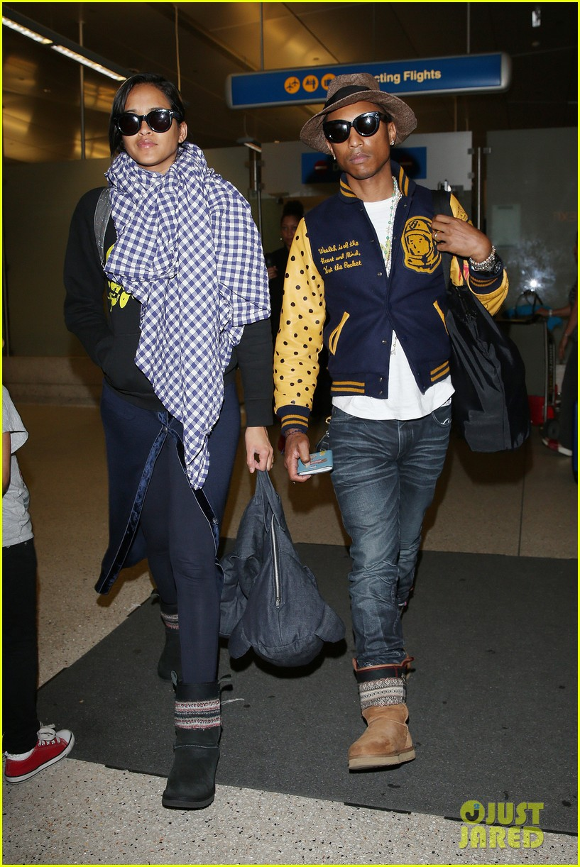 pharrell williams wife helen lasichanh look oh so serious 053124159