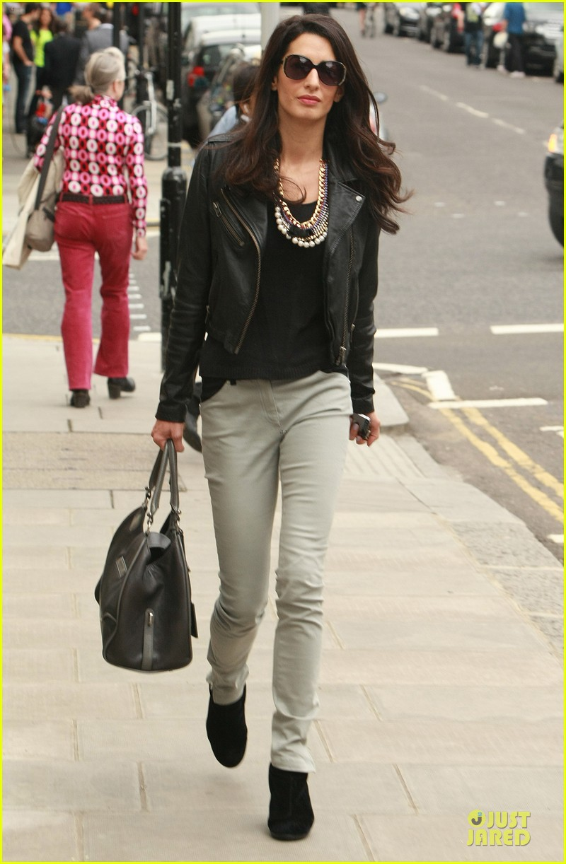 amal alamuddin epitome urban chic in london 053135383