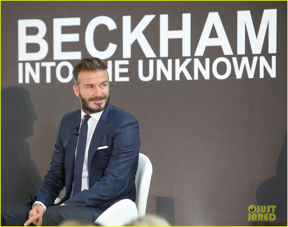 david beckham attends photo call for his documentary into the unknown 10