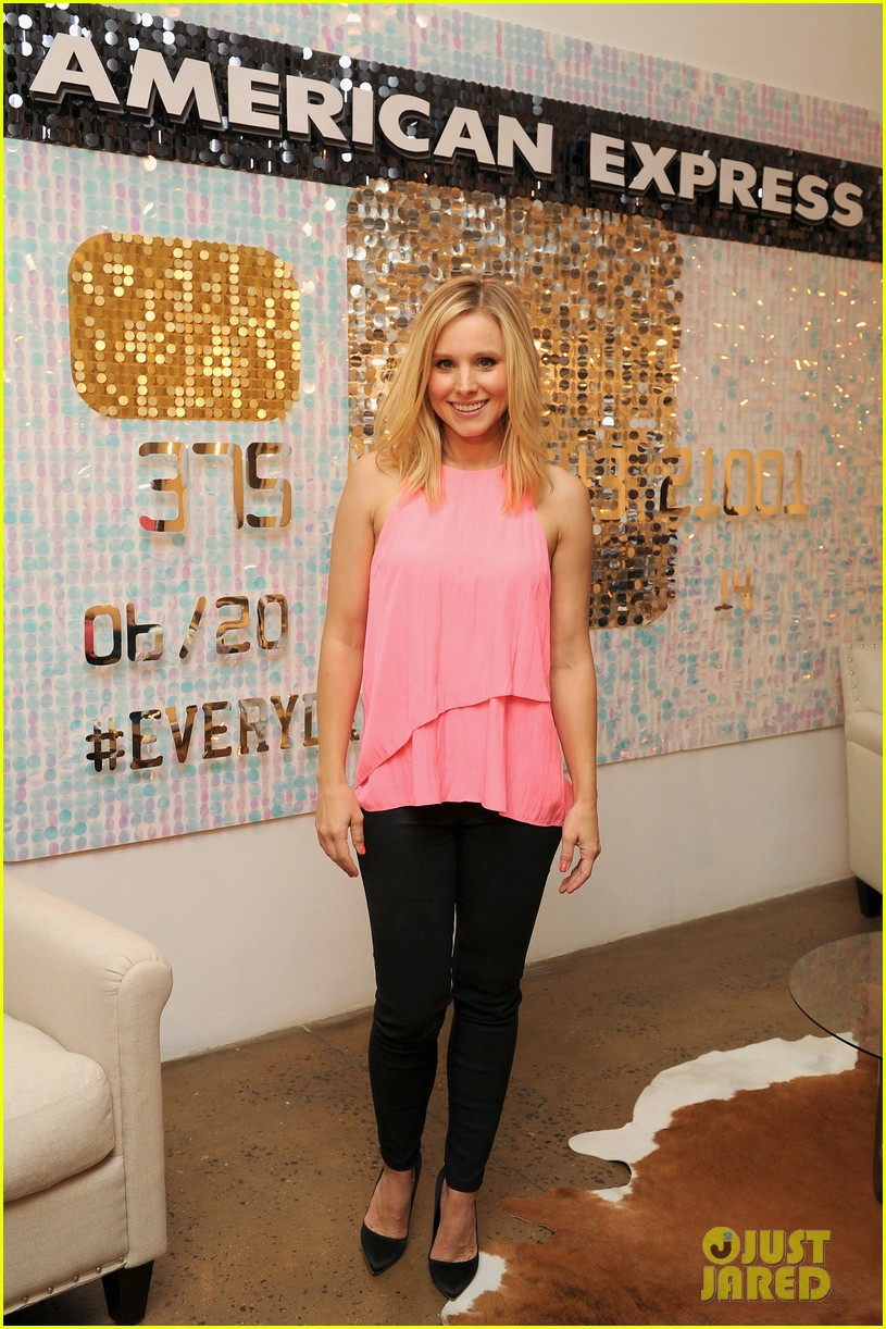 kristen bell soulcycle american express events 103140169