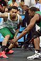 justin bieber chris brown bet celeb basketball game 25