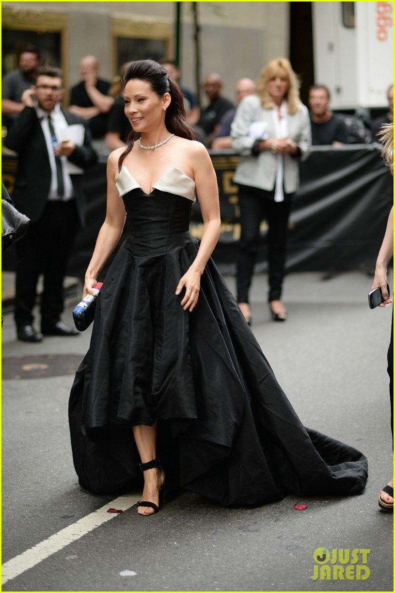 orlando bloom lucy liu tony awards 2014 143131269