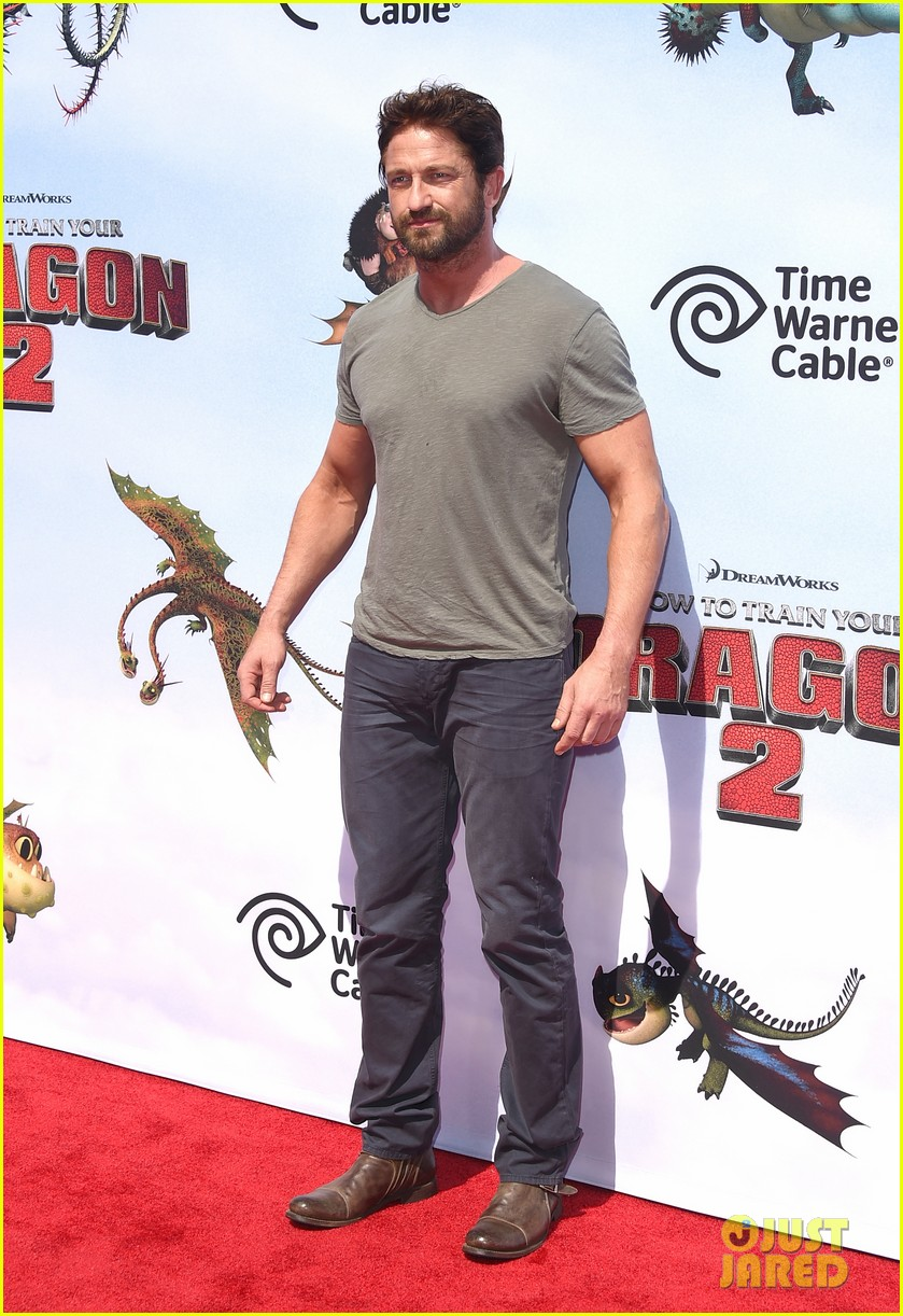gerard butler kit harington how to train your dragon 2 premiere 10