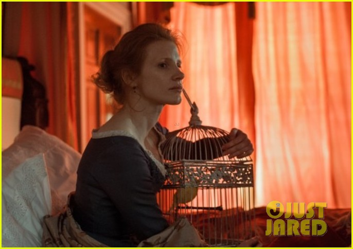jessica chastain colin farrel share passionate kiss for miss julie 093129870