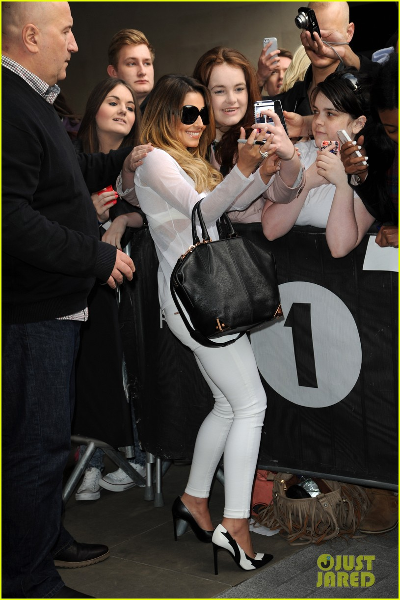 cheryl cole visits bbc radio 1 to premiere new single 053126325