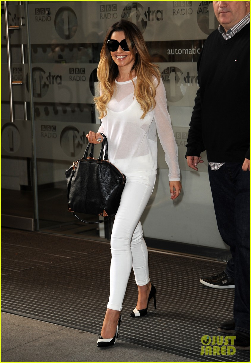 cheryl cole visits bbc radio 1 to premiere new single 073126327