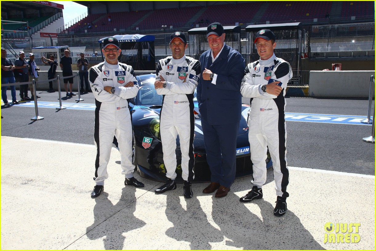 patrick dempsey is back in his racing gear for le mans 01