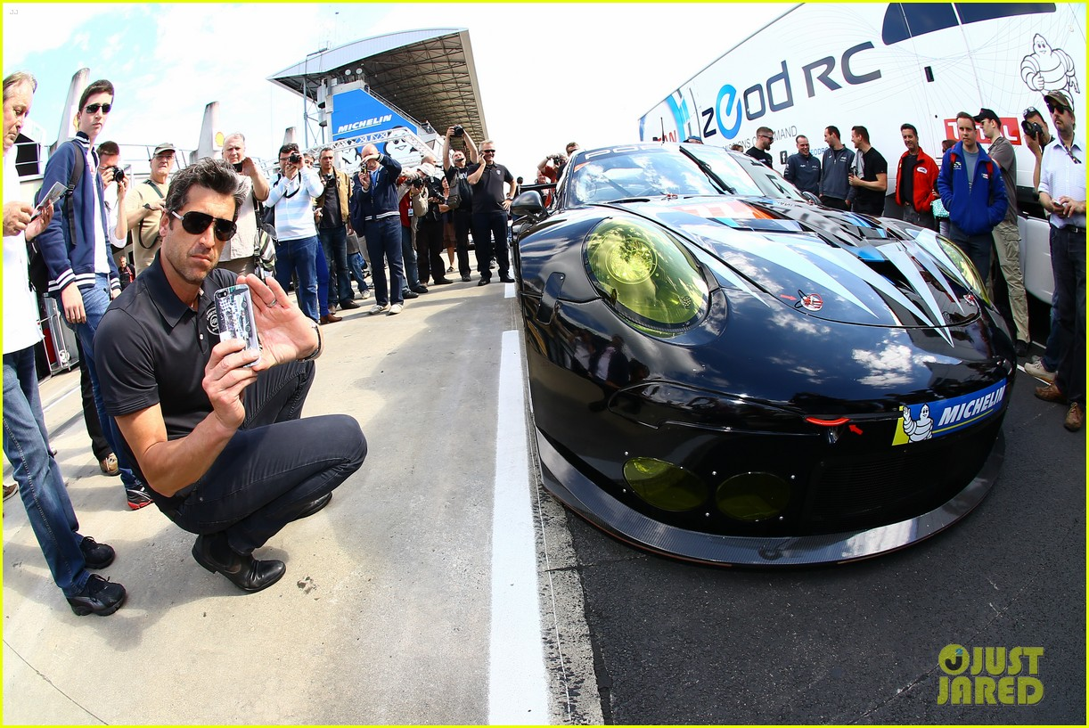 patrick dempsey gets behind the drivers wheel at le mans 073127320