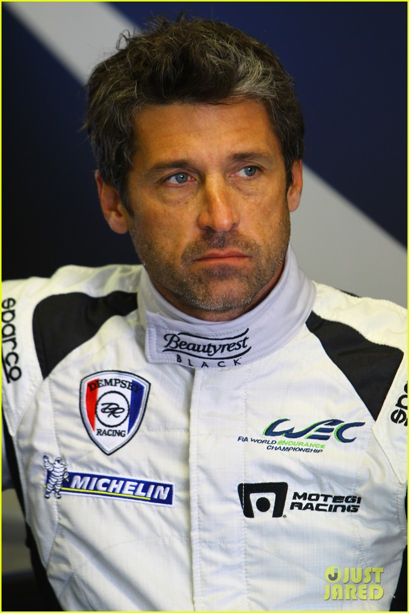 patrick dempsey gets behind the drivers wheel at le mans 133127326