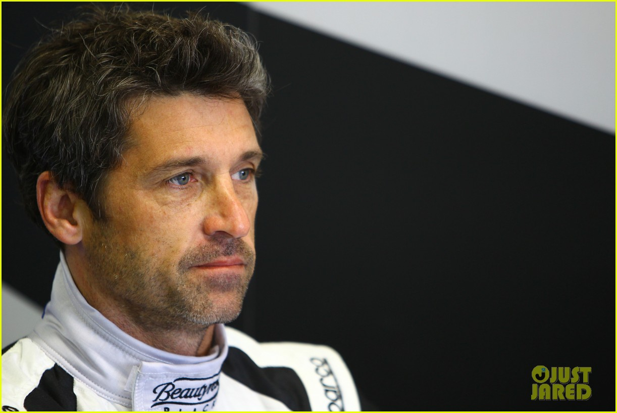 patrick dempsey gets behind the drivers wheel at le mans 213127334