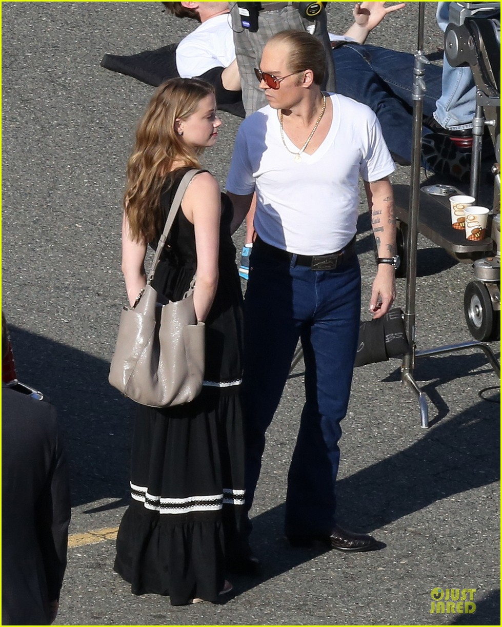 johnny depp amber heard kiss on black mass set 08