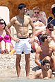 novak djokovic happy shirtless bachelor party vacation 01