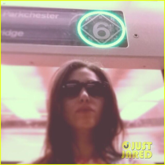 emmy rossum rides the 6 train nyc 043128530