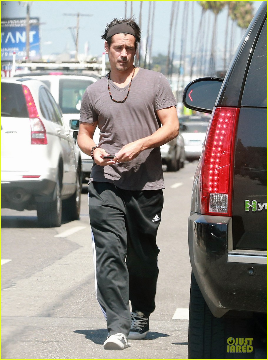 colin farrell shirtless after west hollywood lunch 033145082
