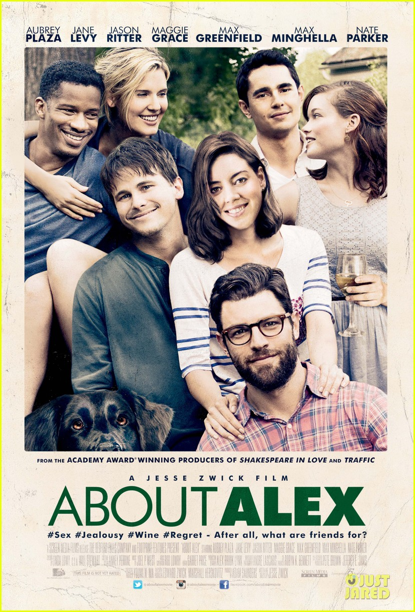 max greenfield aubrey plaza about alex gets poster trailer 01