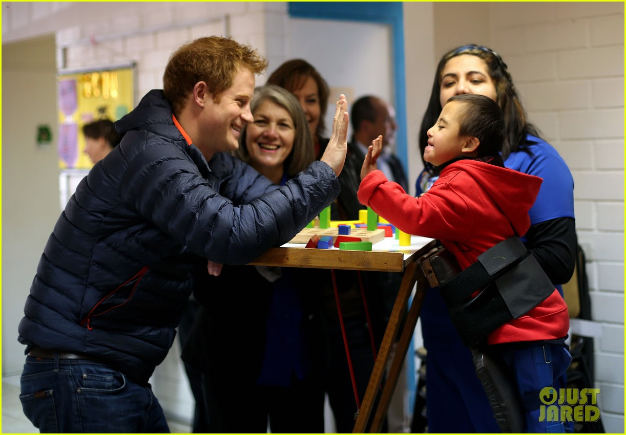 prince harry busts a move children chile visit 14