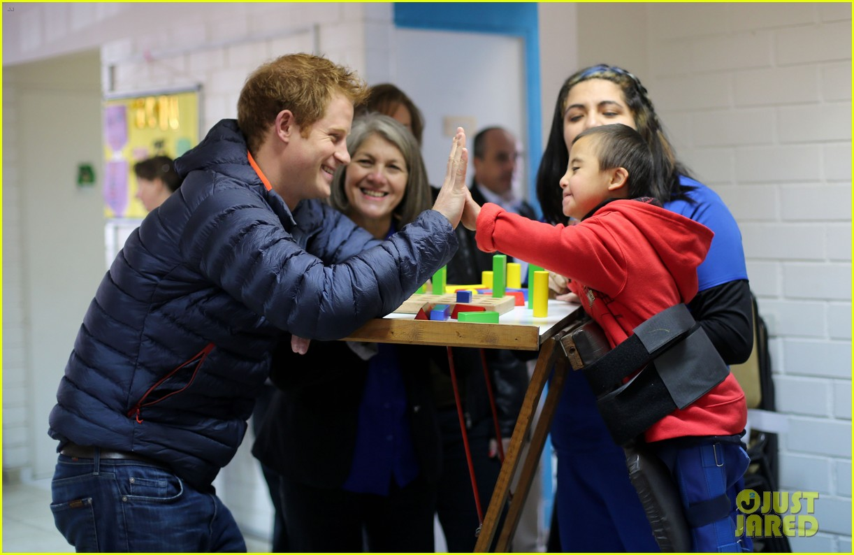 prince harry busts a move children chile visit 18