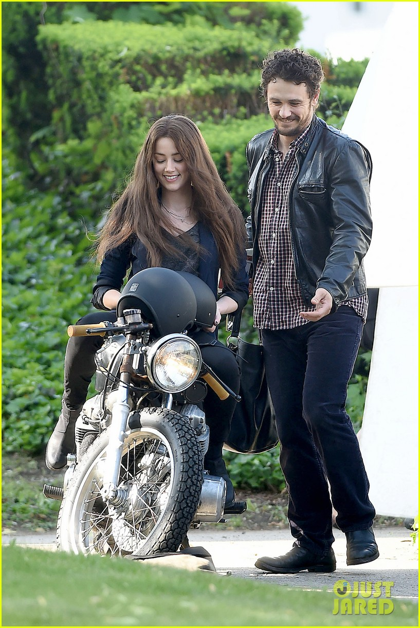 james franco wraps his arms around amber heard for motorcycle ride 20