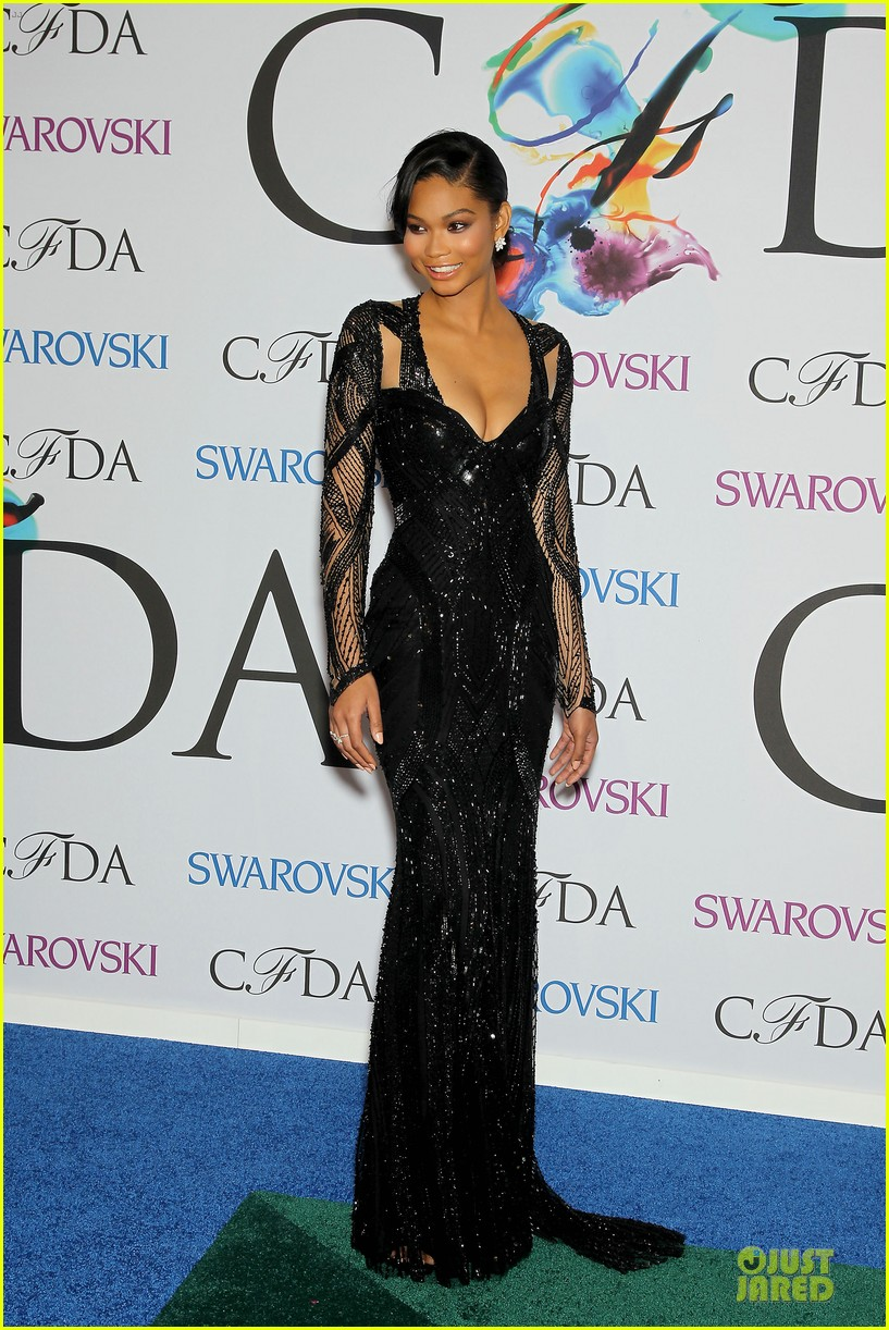 chanel iman joan smalls cfda awards 2014 073127040