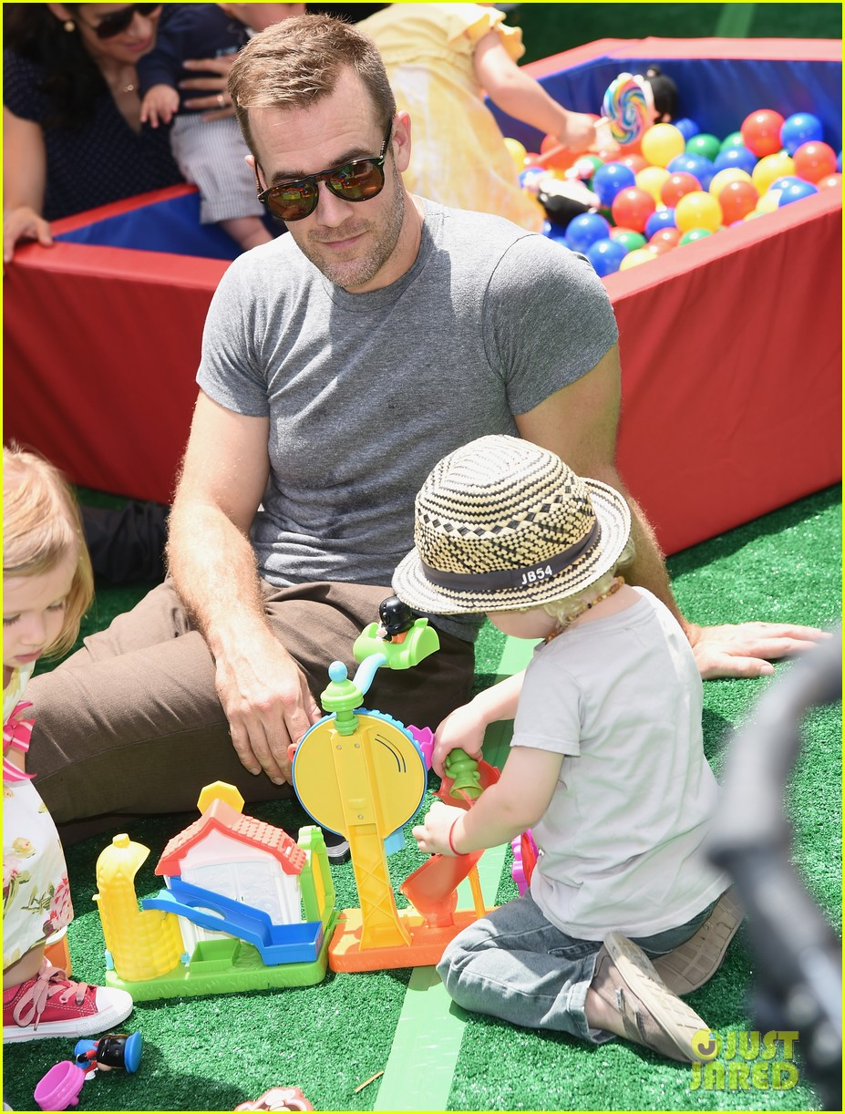 james van der beek is one hunky dad at fisher price toy launch 06