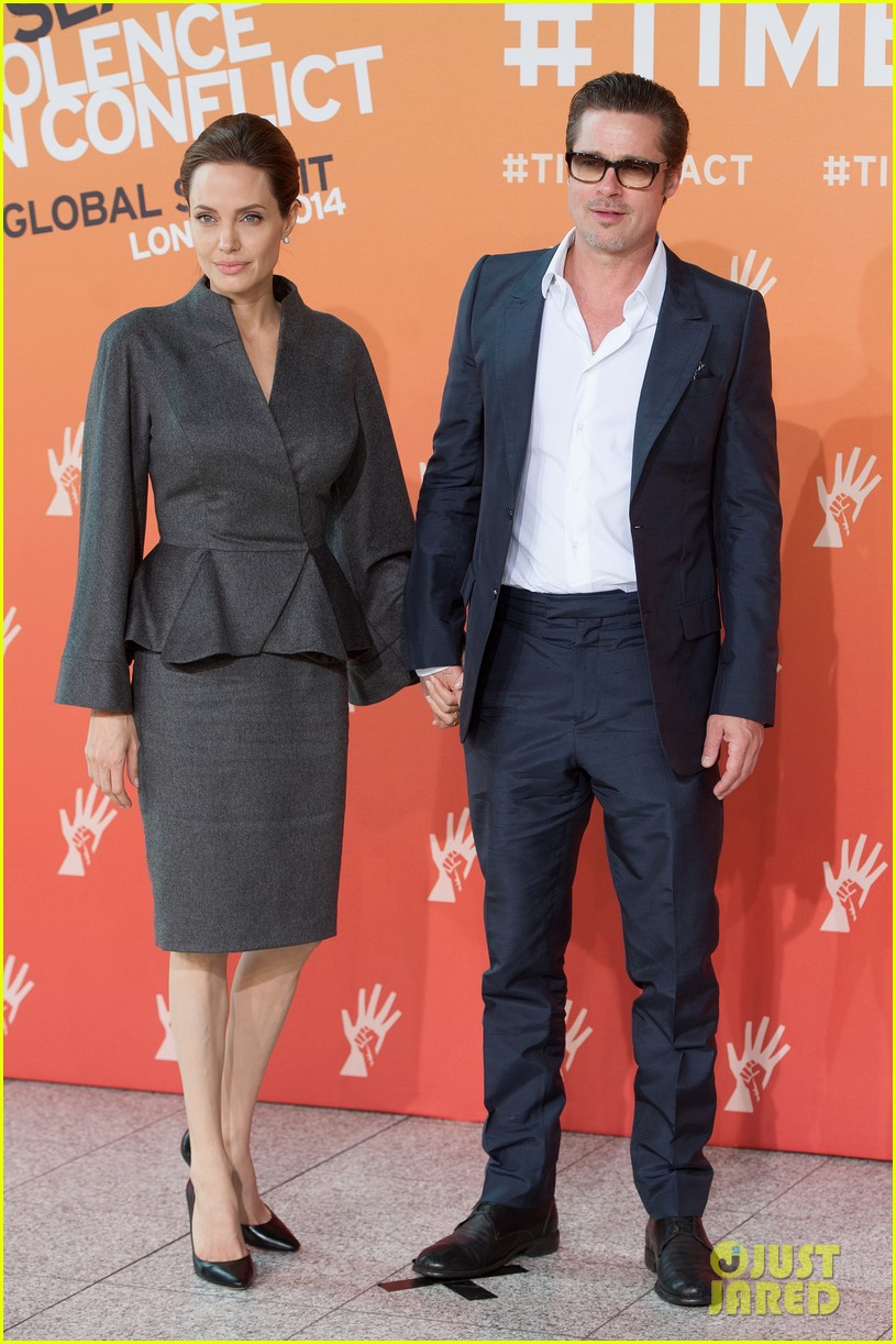 angelina jolie brad pitt keep hand in hand at the global summit end sexual violence 15