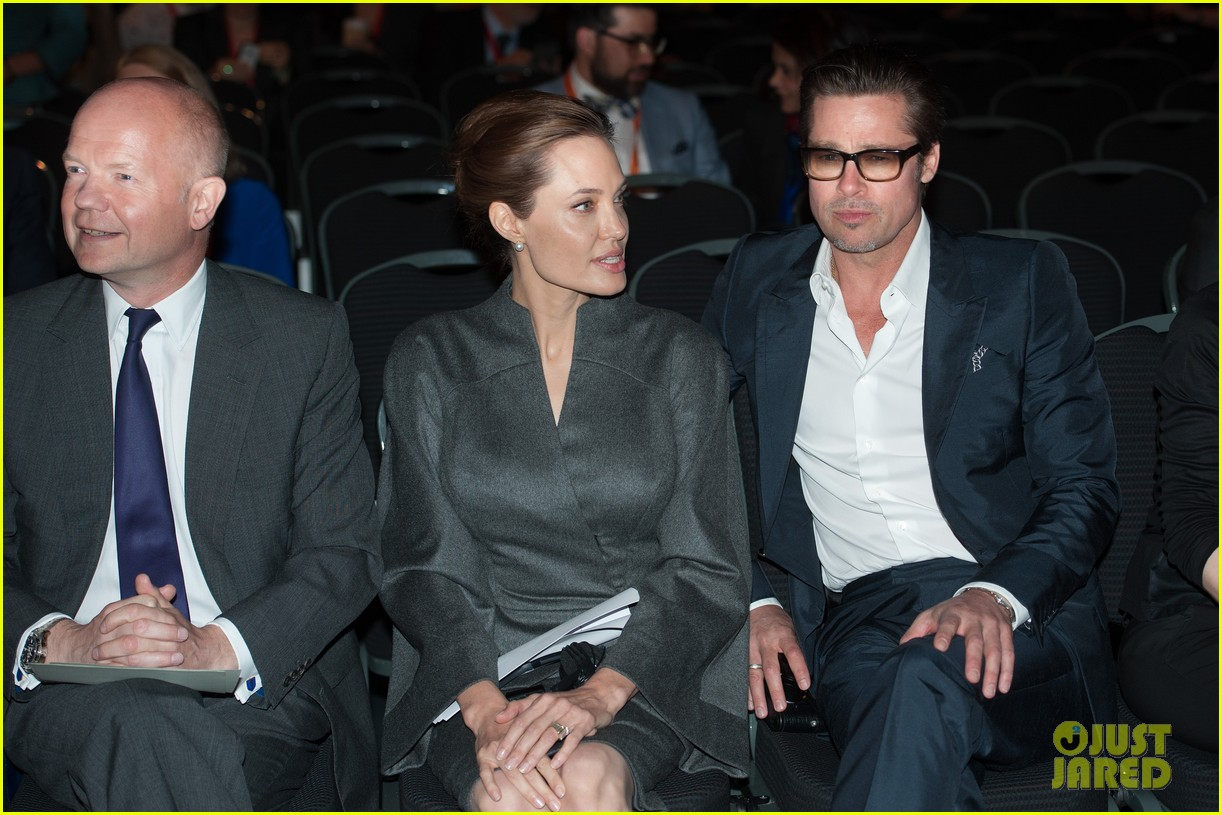 angelina jolie brad pitt keep hand in hand at the global summit end sexual violence 17