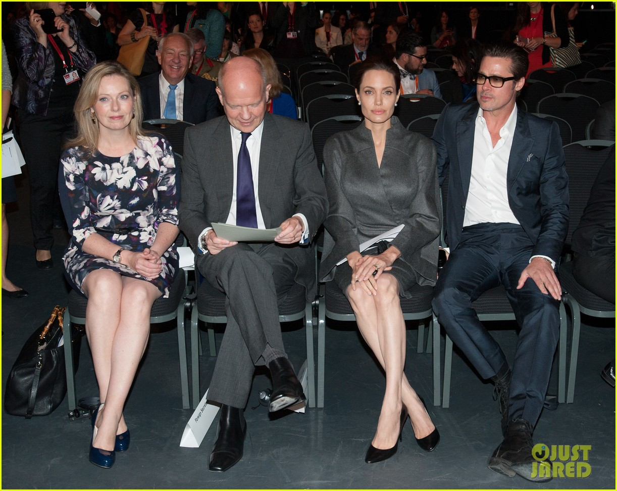 angelina jolie brad pitt keep hand in hand at the global summit end sexual violence 22