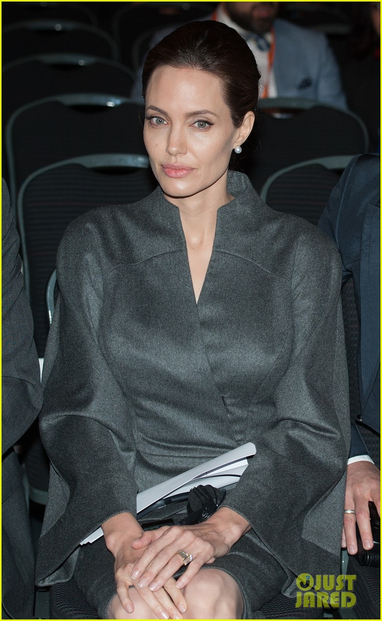angelina jolie brad pitt keep hand in hand at the global summit end sexual violence 24
