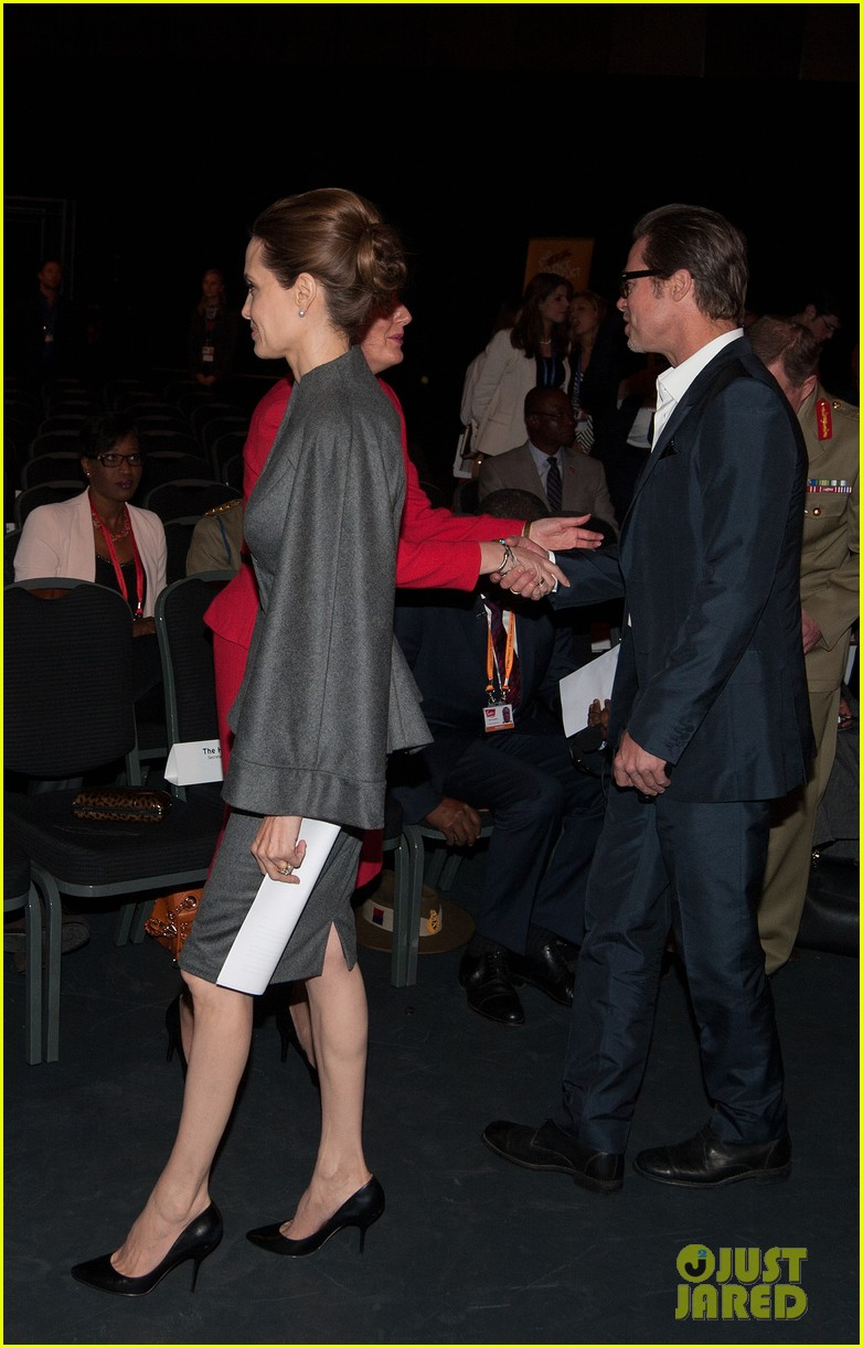 angelina jolie brad pitt keep hand in hand at the global summit end sexual violence 253134603
