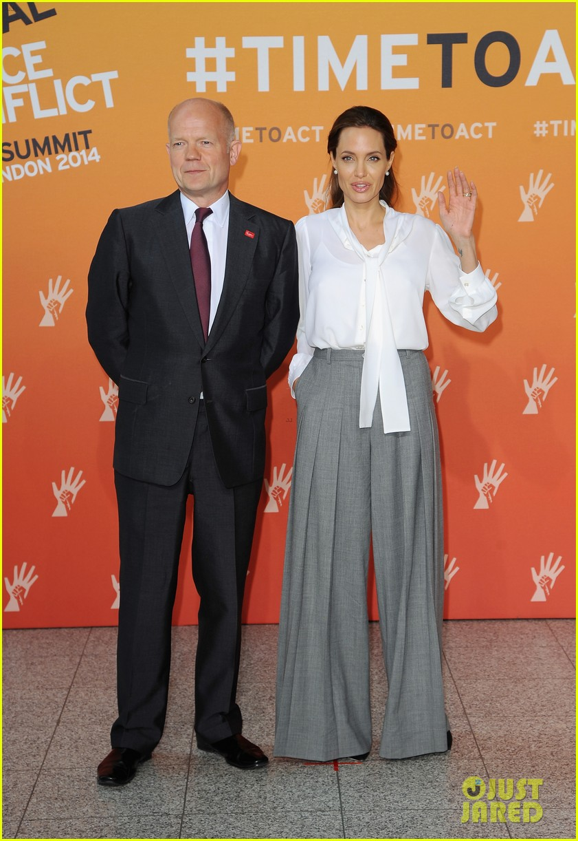 angelina jolie joins foreign secretary william hague for day two of global summit 053133016