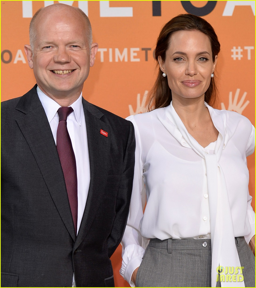angelina jolie joins foreign secretary william hague for day two of global summit 10