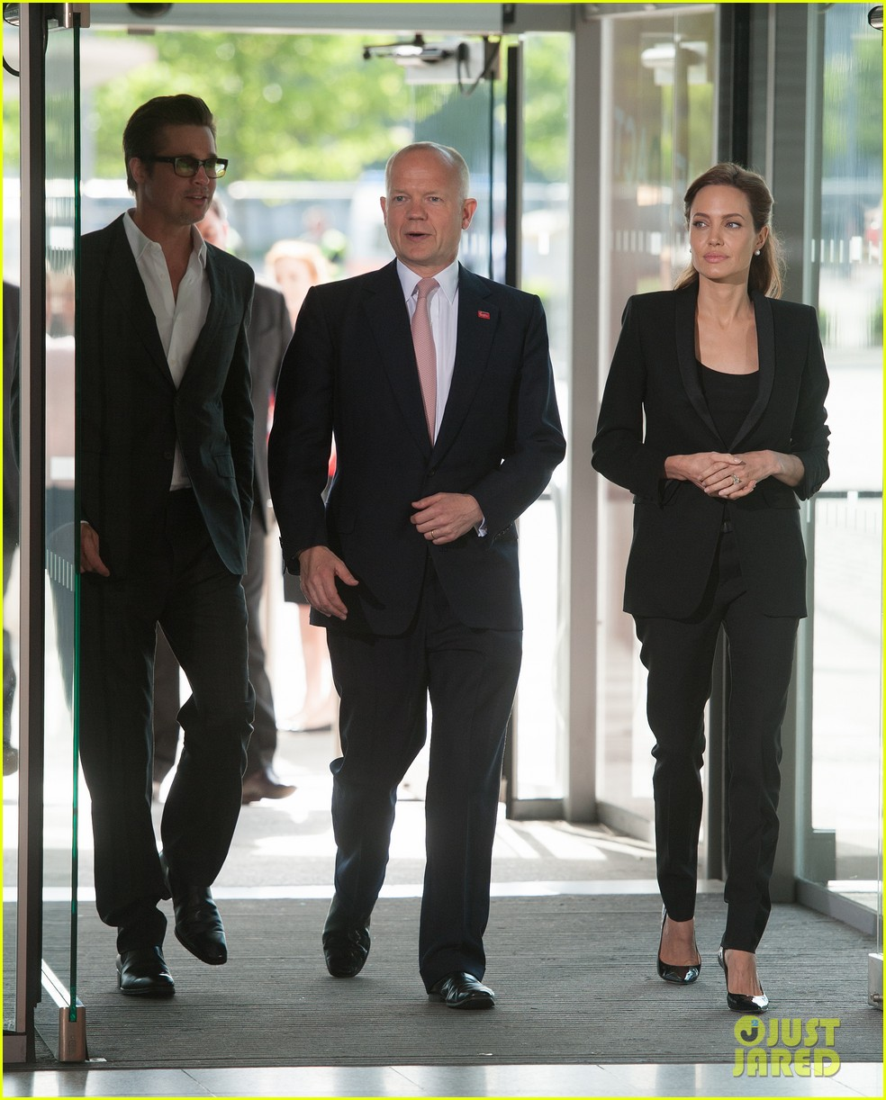 brad pitt supports wife angelina jolie at day three of global summit 01