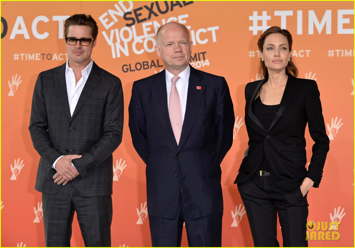 brad pitt supports wife angelina jolie at day three of global summit 183133792